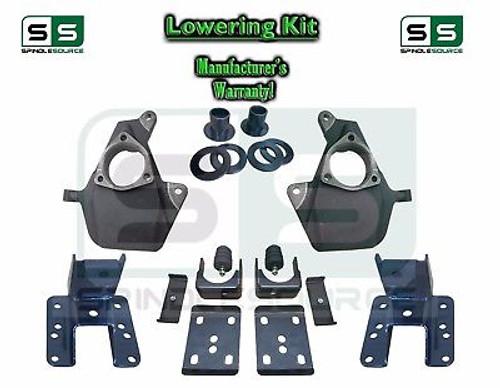 """16-18 Silverado Sierra 3"""" / 6"""" Drop Lowering Spindle KIT STAMPED / ALUM ARMS 3/6"""