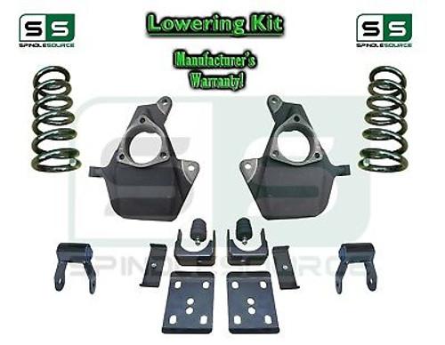 "16-18 Silverado Sierra 4"" / 6"" Lowering DROP KIT STAMPED / ALUM ARMS Coils V6"
