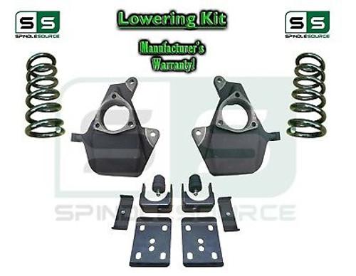 "16-18 Silverado Sierra 4"" / 7"" Lowering DROP KIT STAMPED / ALUM ARMS Coils V6"
