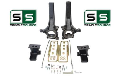 """4.5"""" / 4"""" Lift Spindle  Blocks U-bolt Lift Kit Fits 2015-2018 Ford F-150 2WD"""