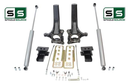"""4.5""""/3"""" Lift Spindle Blocks U-bolt Shocks Kit  Fits 2015- 2018 Ford F-150 2WD"""