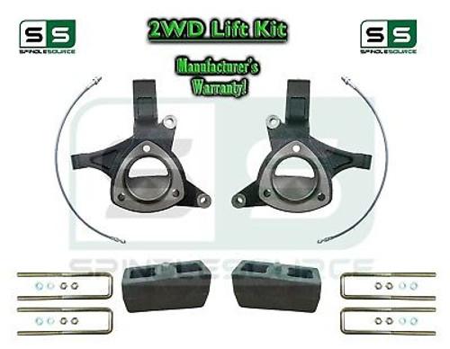 "2015+ Silverado Sierra 1500 2WD 5"" / 2"" Lift Spindles Kit STAMPED / ALUM ARMS"