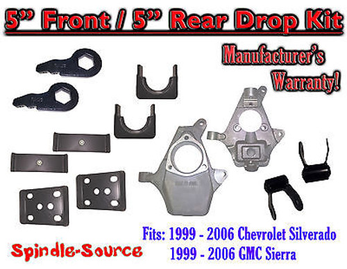 "5"" - 5"" Drop Lower Kit 1999 - 2007 Chevy Chevrolet Silverado GMC Sierra 1500 5/5"