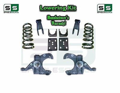 "73 - 87 Chevrolet Chevy GMC C10 C15 5"" / 7"" - 8"" Lowering Drop Kit 1.25"" Rotors"