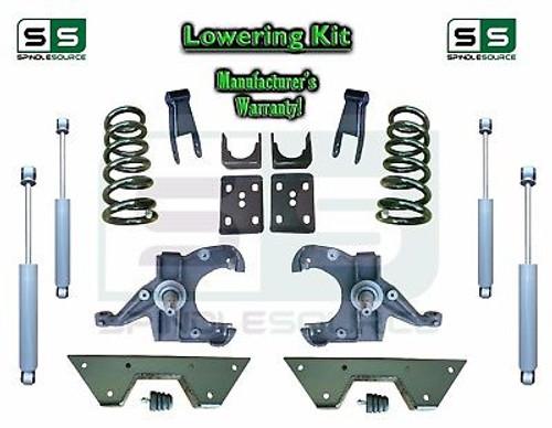 "73 - 87 Chevy GMC C10 C15 5"" / 7"" - 8"" Lowering Drop Kit 1.0"" Rotor SHOCKS NOTCH"