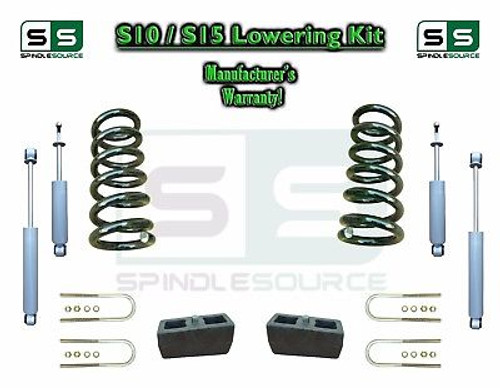 "82-05 Chevy S-10 S10 / GMC S-15 Sonoma Blazer 3"" / 4"" Drop Coil KIT 4 Cyl SHOCKS"
