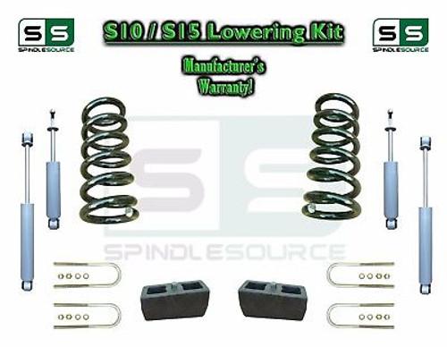 "82-05 Chevy S-10 S10 / GMC S-15 Sonoma Blazer 2"" / 4"" Drop Coil KIT 4 Cyl SHOCKS"