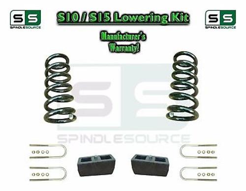 "82-05 Chevy S-10 S10 / GMC S-15 Sonoma Blazer Jimmy 2"" Drop Coils Block KIT V6"
