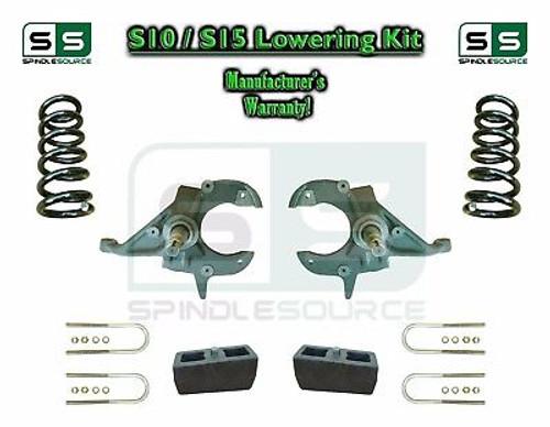 "82-05 Chevy S-10 S10 GMC S15 Sonoma Blazer Jimmy 4"" / 4"" Drop Spindles KIT V6"