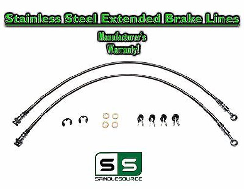 88 - 98 Chevy GMC C1500 C2500 C3500 Stainless Steel Extended Length Brake Lines
