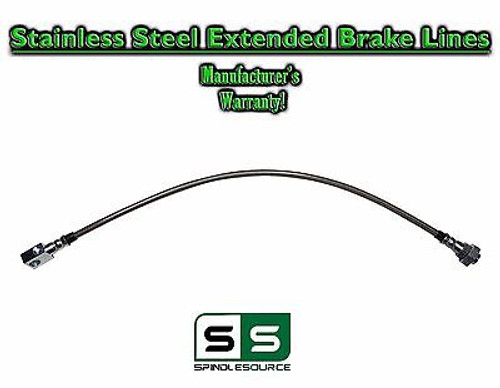 """88 - 98 Chevy GMC C1500 C2500 C3500 Stainless Ext Length REAR Brake Line 4"""" LIFT"""