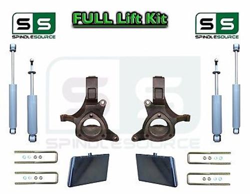 "99-07 Chevrolet Silverado Sierra 1500 Spindle Lift Kit 4"" / 4"" Offset + SHOCKS"