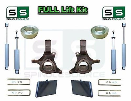 "99-07 Chevrolet Silverado Sierra 1500 Spindle Lift Kit 6"" / 4"" Offset + SHOCKS"