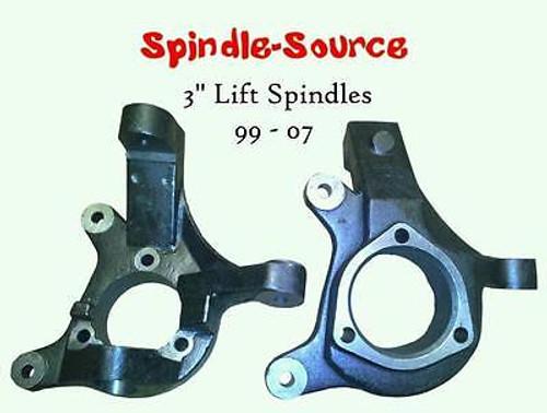 "99-07 Silverado Sierra C1500 2WD 3"" Lift Spindles Knuckles - Spindle Source!!"