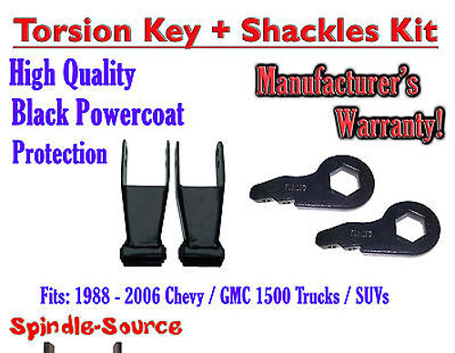 """FORGED Lowering Torsion Keys 2"""" - 3"""" 88 - 06 Chevy GMC 1500 AND 1"""" - 2"""" Shackles"""