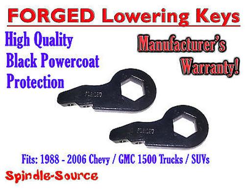 "FORGED Lowering Torsion Keys 2"" - 3"" 88 - 06 Chevy Chevrolet GMC 1500 Truck SUV"