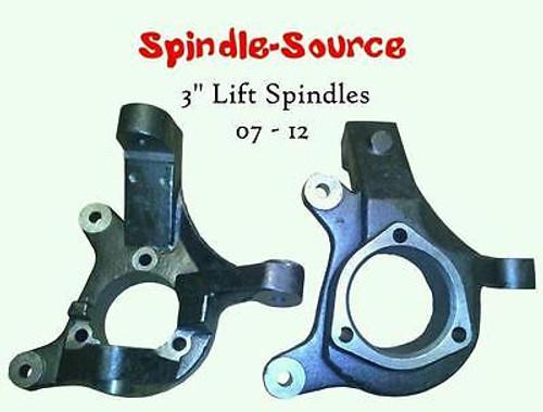 "Brand New: 07-16 3"" Lift Spindles Knuckles Silverado Sierra C1500 2WD Cadillac"