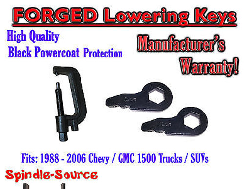 """FORGED Lowering Torsion Keys 2"""" - 3"""" 88 - 06 Chevy GMC 1500 AND INSTALL TOOL"""