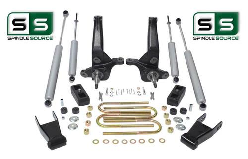 "2001 - 2010 Ford Ranger 2WD 4""/3"" Lift Kit Spindles / Blocks/ Shackles /4 Shocks"