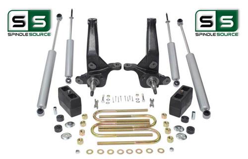 """2001-2010 Ford Ranger 2WD 4""""/4"""" Lift Kit Spindles/Blocks /4 Shocks 4&6 Cylinder"""