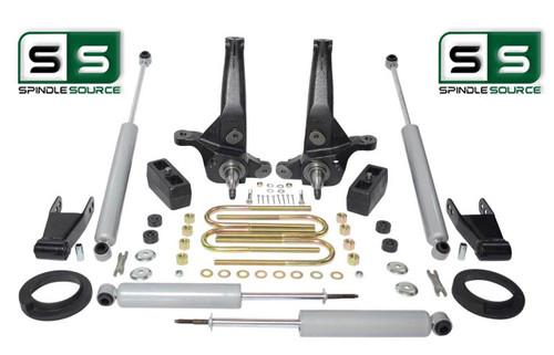 """01-10 Ford Ranger 2WD 5""""/5"""" Lift Kit Spindles/Blocks/Shackles/Fr Spacer/4 Shocks"""