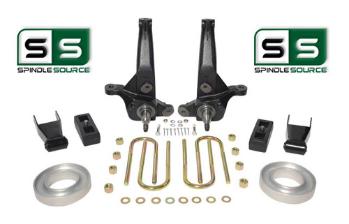 """01-2010 Ford Ranger 2WD 6""""/4"""" Lift Kit Spindles/Blocks/Shackles/Coil Spacers"""