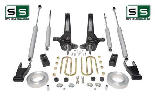 """01-10 Ford Ranger 2WD 6""""/4""""Lift Kit Spindles/Fr Spacer/Blocks/Shackles/4 Shocks"""