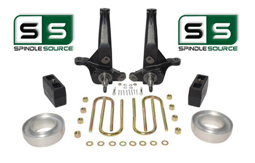 """2001 - 2010 Ford Ranger 2WD 7""""/4"""" Lift Kit Spindles /Coil Spacers/Rear Blocks"""