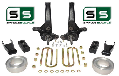 """01-10 Ford Ranger 2WD 7""""/4"""" Lift Kit Spindles/Blocks/Shackles/Coil Spacers"""