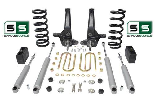 "01-10 Ford Ranger 2WD 7""/ 4"" Lift Kit 4 Cyl Spindles/Coils/Lift Blocks/4 Shocks"