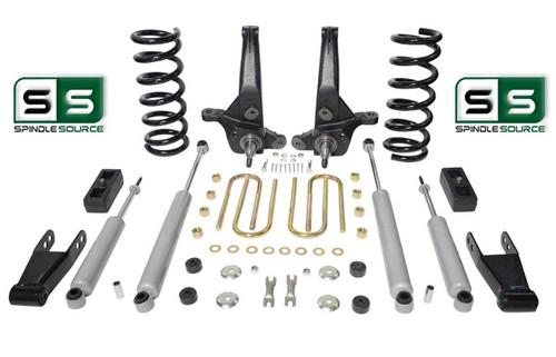 "01-10 Ford Ranger 2WD 7""/4"" Lift Kit 4Cyl Spindles/Coils/Blocks/Shackle/4 Shocks"