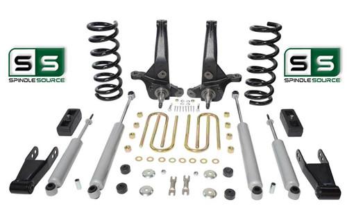 "01-10 Ford Ranger 2WD 7""/4"" Lift Kit 6 Cyl Spindles/Coils/Blocks/Shackle/4 Shock"