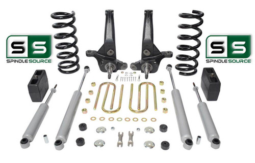 """01-10 Ford Ranger 2WD 7""""/5"""" Lift Kit 6 Cyl Spindles/Coil Springs/Blocks/4 Shock"""