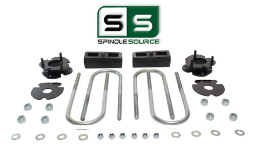 """2""""/2"""" FRONT SPACERS WITH BLOCKS , FITS 2005-2011 DODGE DAKOTA 4WD W/3.5"""" AXLE"""