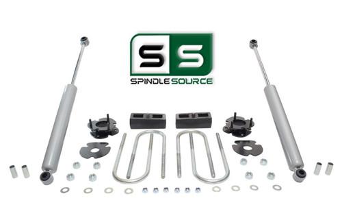 """2""""/2"""" SPACERS , BLOCKS , RR SHOCKS FITS 2005-2011 DODGE DAKOTA 4WD W/3.5"""" AXLE"""