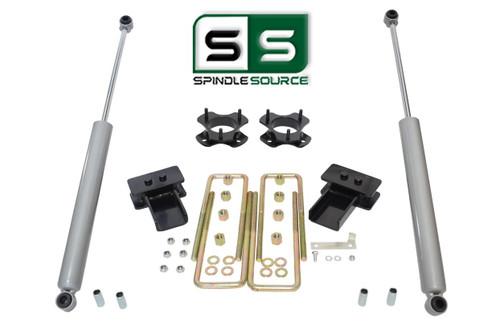 """2""""/2"""" Lift Strut Spacers Blocks Rear Shocks Kit Fits 2009 - 2014 Ford F150 2wd"""