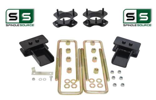 """2.5""""/2"""" Lift Strut Spacers Blocks U-Bolts Kit Fits 2009 - 2014 Ford F150 2wd"""
