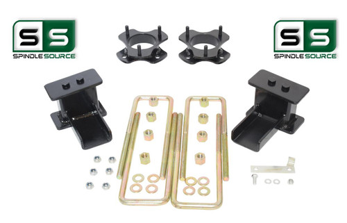 """2.5""""/2.5"""" STRUT SPACER FABRICATED BLOCK LIFT KIT FITS 2015-2018 FORD F-150 4WD"""