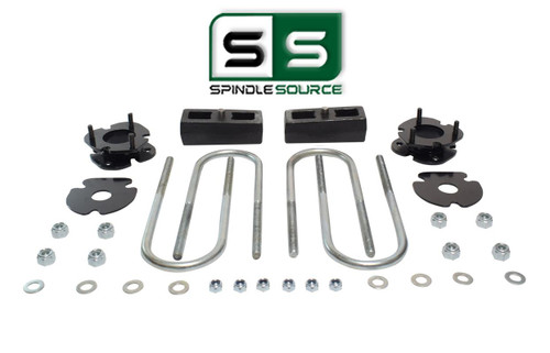 """2""""/2"""" FRONT SPACERS WITH REAR BLOCKS , FITS 2005-2011 DODGE DAKOTA 2WD W/3"""" AXLE"""
