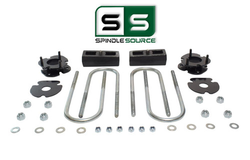 """2""""/2"""" FRONT SPACERS WITH REAR BLOCKS , FITS 2005-2011 DODGE DAKOTA 4WD W/3"""" AXLE"""
