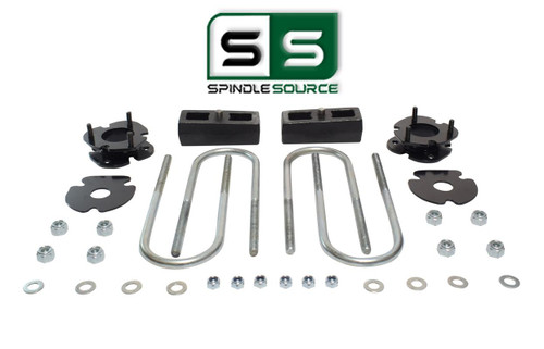 """2.5""""/2"""" FRONT SPACERS WITH REAR BLOCKS,FITS 2005-2011 DODGE DAKOTA 4WD W/3"""" AXLE"""