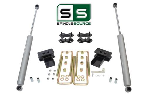 """2.5""""/2"""" Lift Strut Spacers Blocks Rear Shocks Kit Fits 2009 - 2014 Ford F150 2wd"""