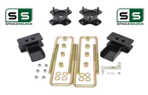 """3""""/2"""" Lift Strut Spacers Blocks U-Bolts Kit Fits 2009 - 2014 Ford F150 2wd"""