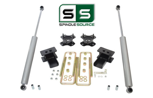 """3""""/3"""" Lift Strut Spacers Blocks 2 Rear Shocks Kit Fits 2009 - 2014 Ford F150 2wd"""