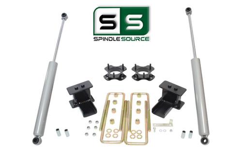 """2.5""""/2.5"""" STRUT SPACER , BLOCKS , RR SHOCKS LIFT KIT FITS 09-14 FORD F-150 4WD"""
