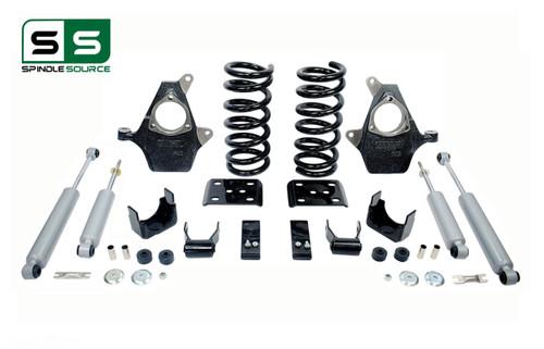 "99 - 06 Silverado / Sierra 1500 (V8)  3"" / 5"" Spindle Coil Drop Kit + Shocks"
