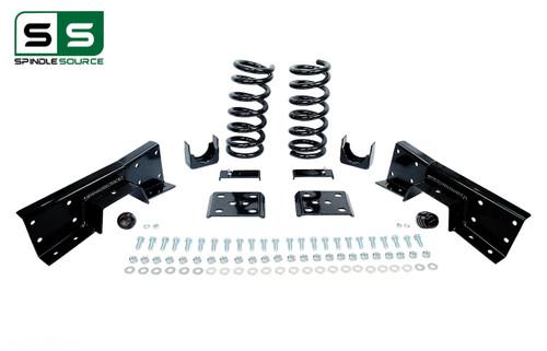 "99 - 00 Silverado / Sierra 1500 (V6)  3"" / 6"" Coil Drop Kit + C-Notch"