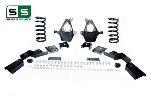 "01 - 06 Silverado / Sierra 1500 (V8)  4"" / 6"" Coil Drop Kit + C-Notch"