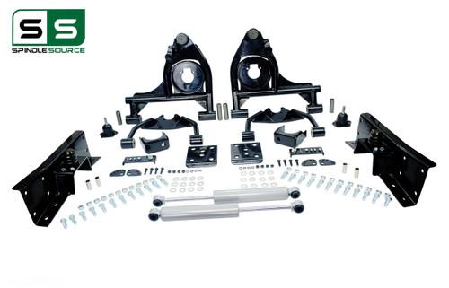 "01 - 06 Silverado / Sierra 1500  4"" / 6"" Control Arm Drop Kit + Shocks, C-Notch"