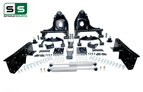 "99 - 00 Silverado / Sierra 1500  4"" / 7"" Control Arm Drop Kit + Shocks, C-Notch"
